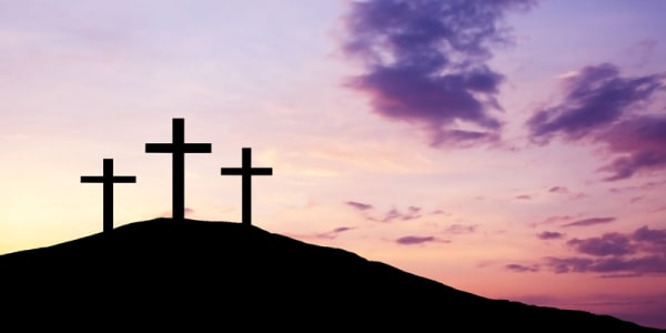 The three who were crucified and their followers
